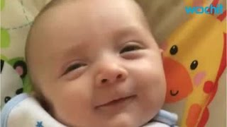 "Surprise! 7-week Old Baby Says ""Hello"""