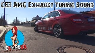 Repeat youtube video C63 AMG brutal V8 exhaust sound acceleration edition Lexy Roxx