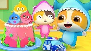 Baby Shark-お誕生日おめでとう❤ | 赤ちゃんが喜ぶ歌 | 子供の歌 | 童謡 | アニメ | 動画 | ベビーバス| BabyBus