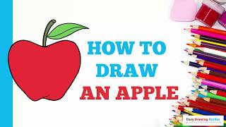 How to Draw an Apple in a Few Easy Steps: Drawing Tutorial for Kids and Beginners
