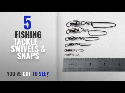 Top 10 Fishing Tackle – Swivels & Snaps [2018]: Dr.Fish 20 Counts Fishing Ball Bearing Swivel with