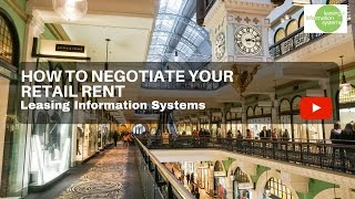 How to Negotiate Your Retail Rent - Leasing Information Systems