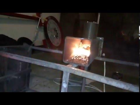 DIY - Gravity fed pellet burner installed on old gas stove pt-1