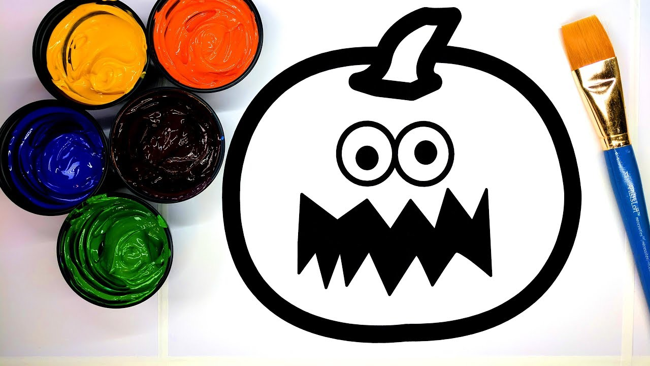 Coloring Halloween Jack O Lantern Coloring Pages for Kids with ...