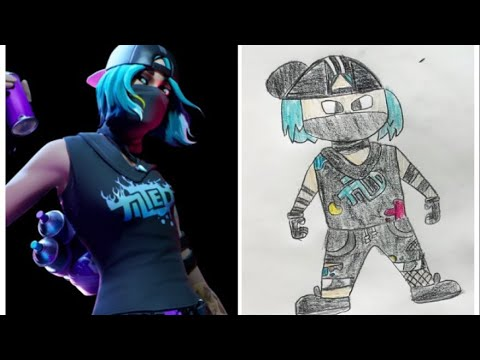 How To Draw Teknique Fortnite How To Draw Tilted Technique Fortnite Drawing Tutorial Youtube