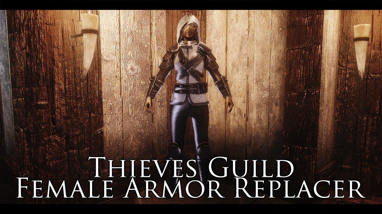 TES V - Skyrim Mods: Thieves Guild Female Armor Replacer