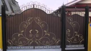 Интересные идеи для дачи и сада красивые ворота деревянные и металлические(, 2015-10-05T16:24:20.000Z)