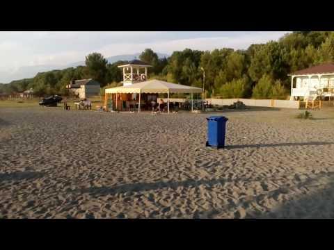 Абхазия , пансионат сосновая роща пляж 2016
