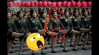 Wanita Ini tidak sadar Pas Parade Militer Ulang Tahun Korea Utara Ke 70