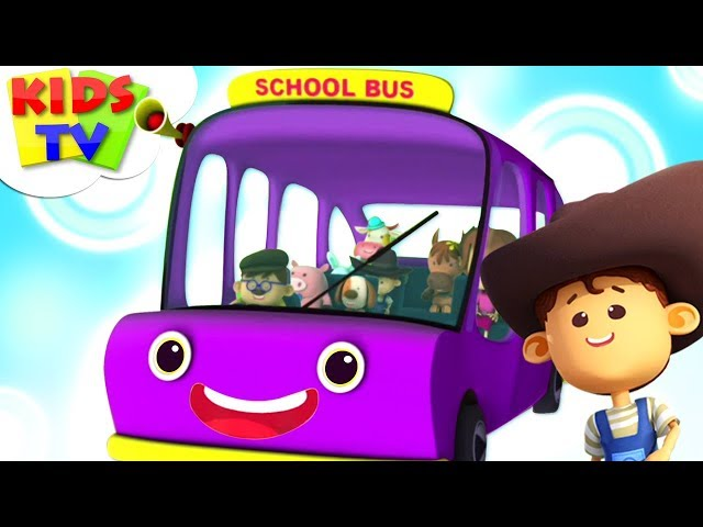 Wheels On The Bus | Little Eddie | Nursery Rhymes For Babies - Kids TV