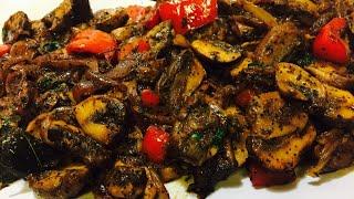 Mushroom Pepper Fry | Mushroom fry in Tamil | Spicy & Tasty | Easy Cooking