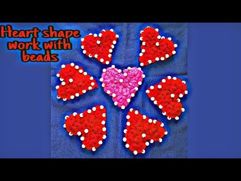 How to crochet a HEART (DIL)....With star stitch nd decorated with beads