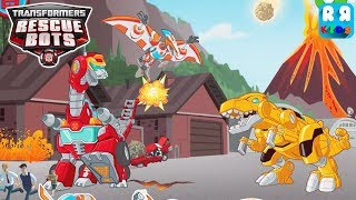TRANSFORMERS RESCUE BOTS (Budge World New Games) - Dinobot Heatwave VS Dinobot Bumblebee