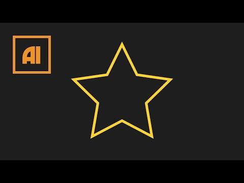 Как сделать звезду в иллюстраторе