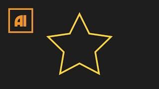 Как сделать звезду в иллюстраторе - Star Tool | Урок Adobe Illustrator