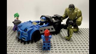 vuclip Siêu Nhân Người Nhện lắp ghép đồ chơi lego ô tô Sipderman stop motion