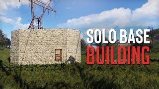 BUILDING THE NEW SOLO BASE! - Rust SOLO Survival