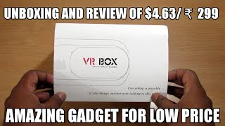 VR Box | Unboxing and review of $4.63/ ₹ 299