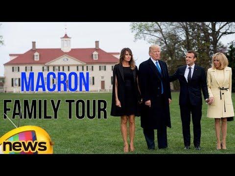 Trump And Macron Family Tour The Mount Vernon Mansion | Mango News