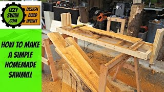 Video (how to make) a simple homemade  sawmill | Izzy Swan download MP3, 3GP, MP4, WEBM, AVI, FLV Juli 2018