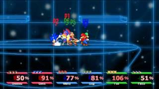 Super Smash Bros. Crusade - Shadow & Sonic Vs Mario & Luigi Vs Fox & Falco