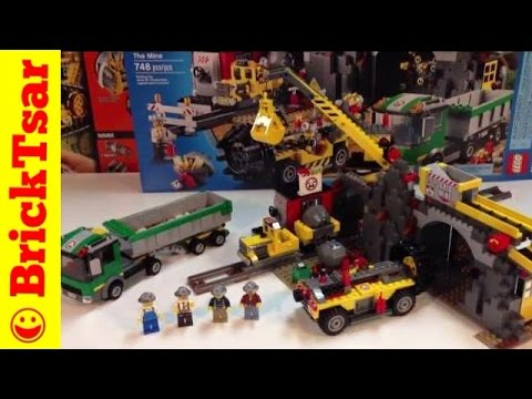 LEGO City Mining set 4204 The Mine - Gold in those hills! With Mine Train