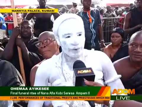 Priests and Priestesses pay homage to Otumfuo Osei Tutu II - Adom TV (1-12-17)