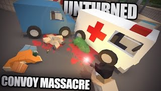 Unturned PvP CONVOY MASSACRE: PEI v3 w/ Modded Guns & QASWASRED