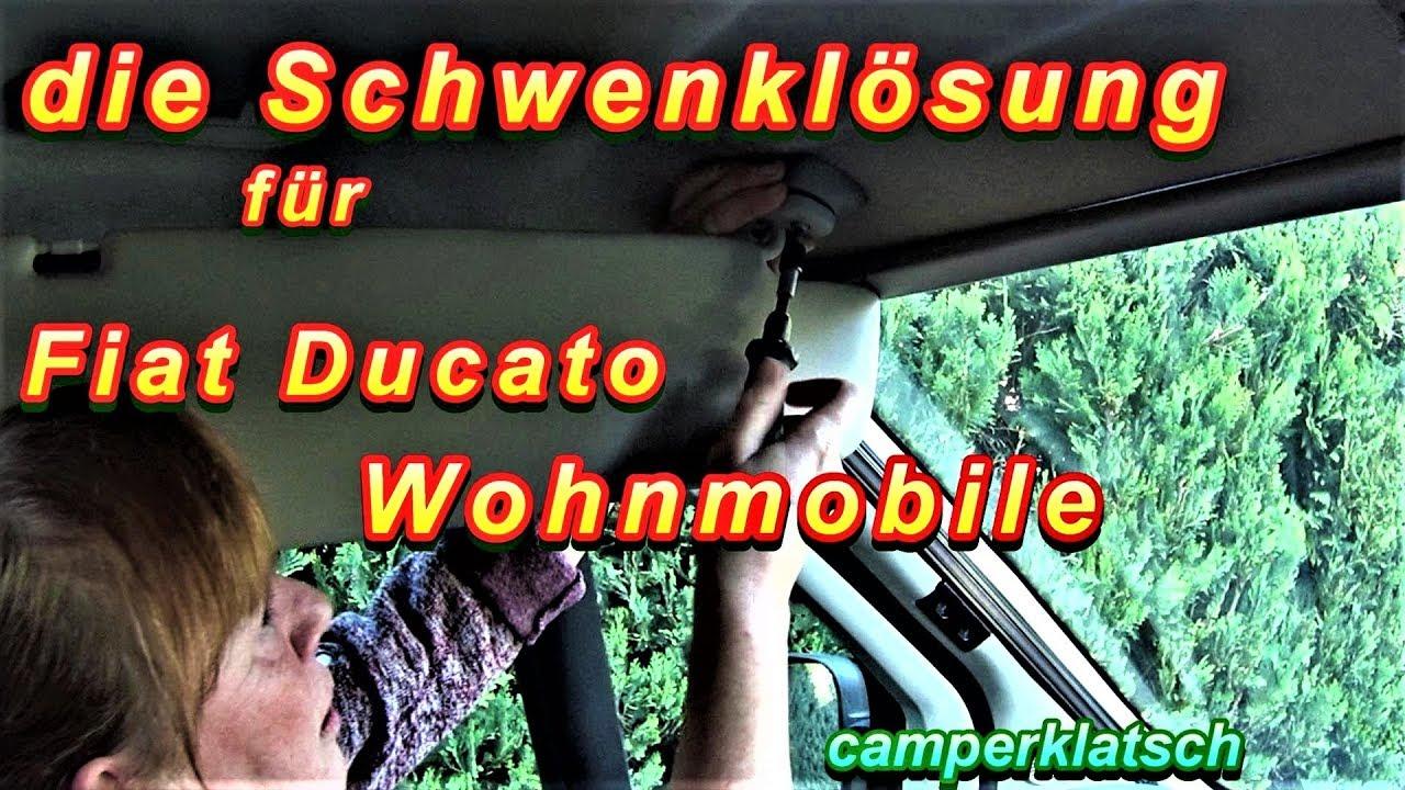 Sonnenblenden-Adapter Remisfront / Fahrerhausverdunklung🛠Wohnmobil  Kastenwagen Zubehör Fiat Ducato❗️