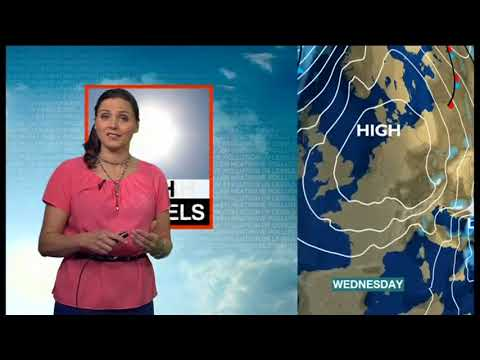 Elizabeth Saary - BBC Weather Presenter - Week Ahead (April 2014)