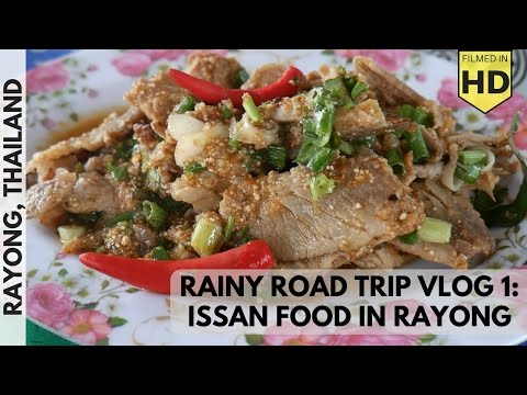 VL1: Rainy Day Northeastern Thai Street Food in Rayong