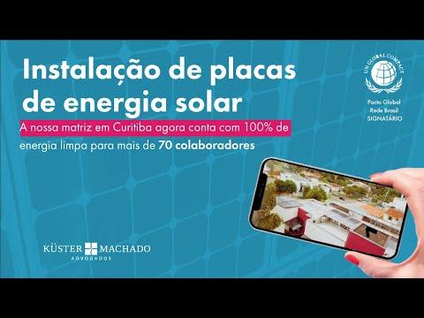 Pacto Global - Küster Machado realiza a instalação de energia solar em sua matriz