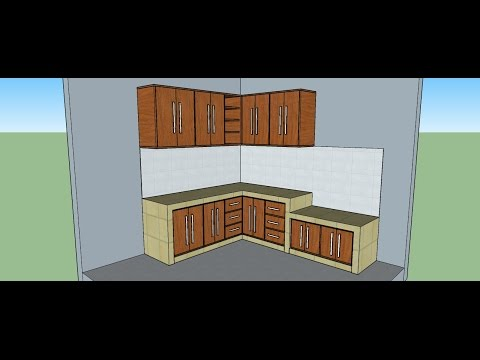 tutorial sketchup bahasa indonesia kitchen part 1