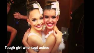 Big girls cry- Sia (lyric video) with Maddie Ziegler pictures