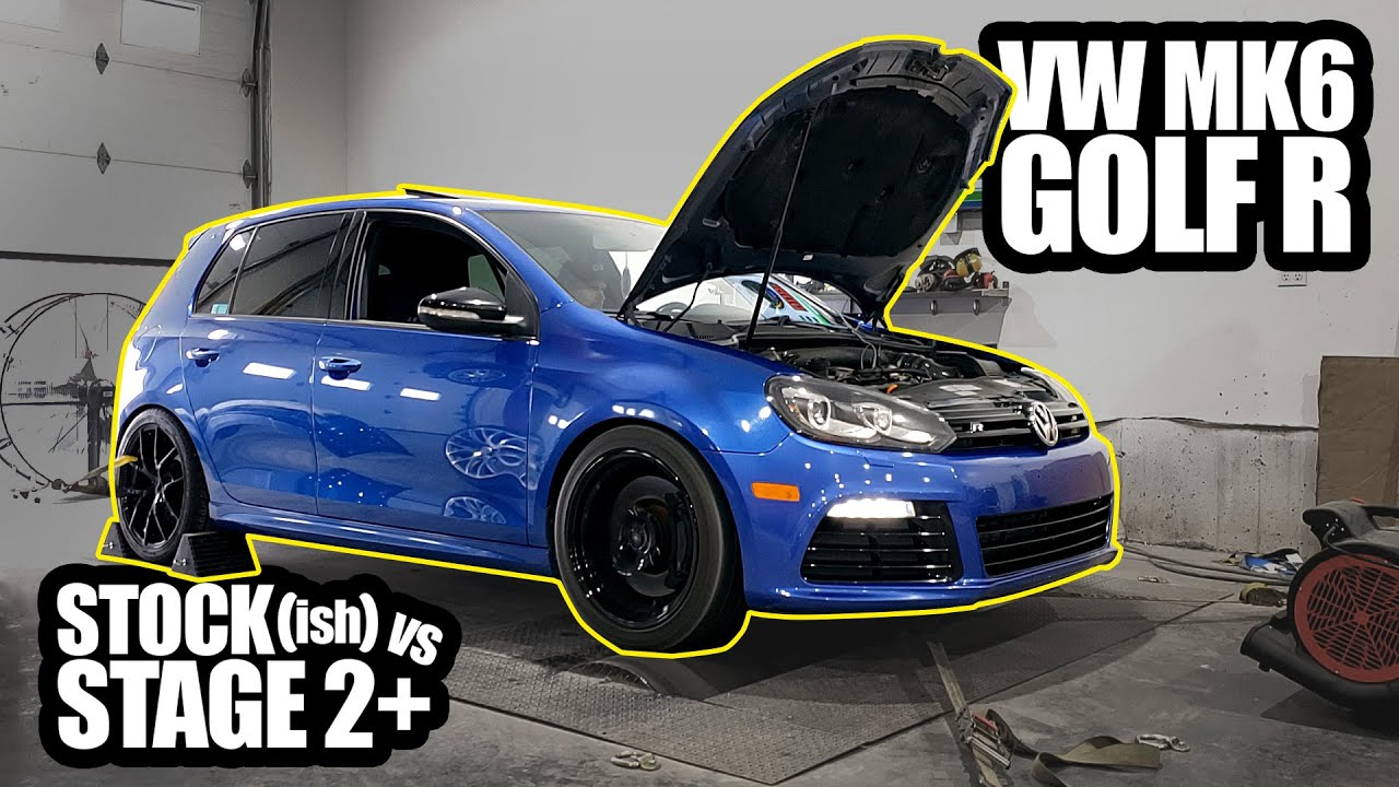 Mk6 Golf R Dyno Comparison Stock Ish Vs Stage 2 Youtube
