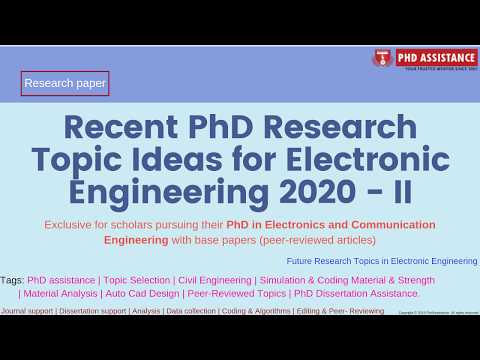 Recent PhD Research Topic Ideas For Electronics And Communication Engineering 2020- II