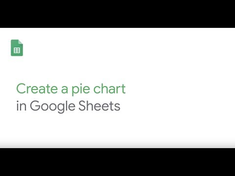 How To: Create a pie chart in Google Sheets