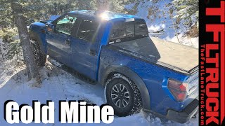 Ford F-150 Raptor vs Gold Mine Hill Snowy Off-Road Misadventure