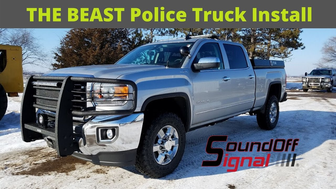 """The BEAST"" 2017 GMC Sierra Police Truck - HD Installation ..."