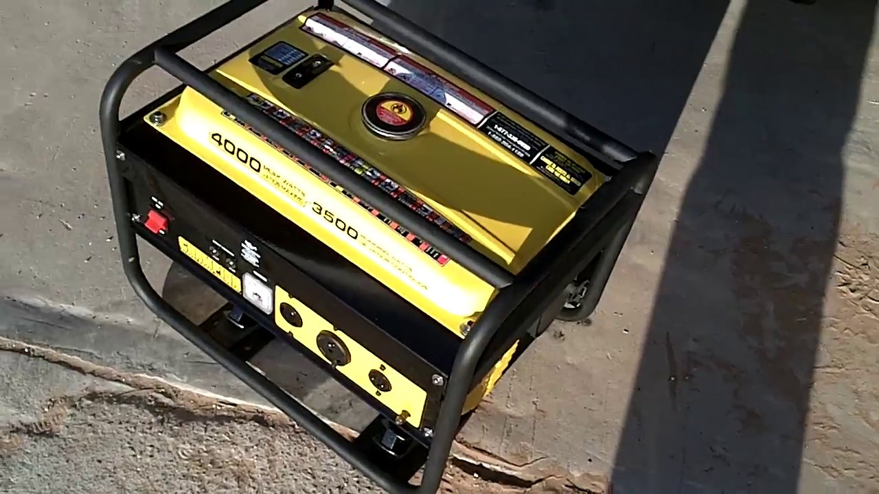 4000 Watt Champion Generator Youtube