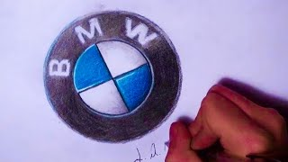 How to Draw a Bmw Emblem Time-Lapse HD