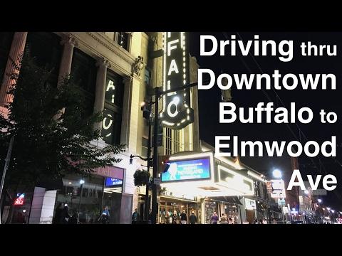 Driving thru Downtown Buffalo, NY to Elmwood at night
