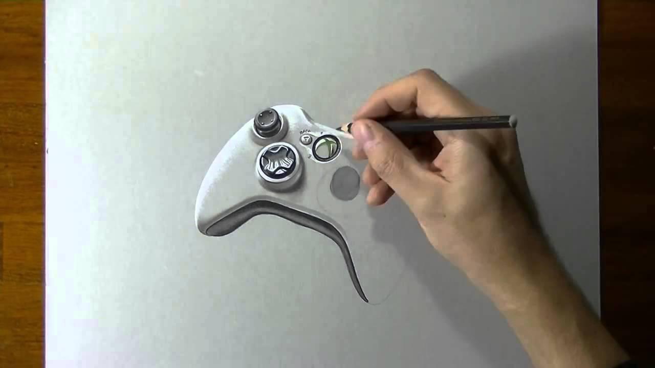 Desenho Realistico Controle De X Box 360 Youtube