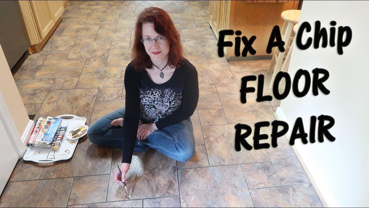 Fix A Chip Floor Repair Duraceramic Tile Diy Demo Youtube