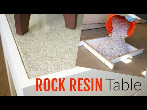 ROCK and Epoxy Resin Table Build