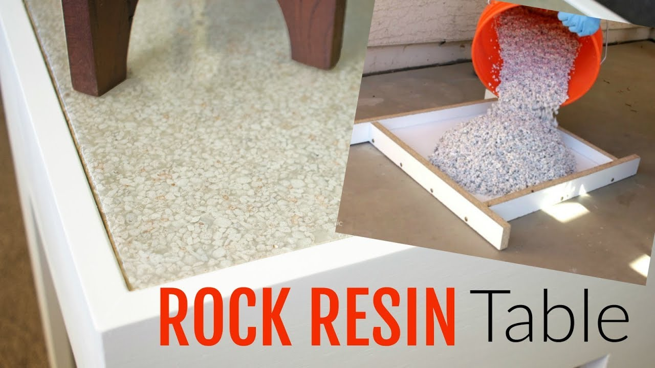Rock And Epoxy Resin Table Build You