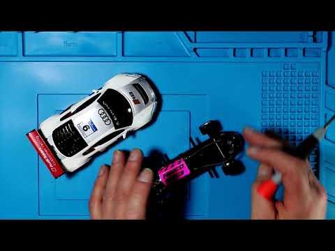 132-Audi R8 GT Ninco con material calibrado