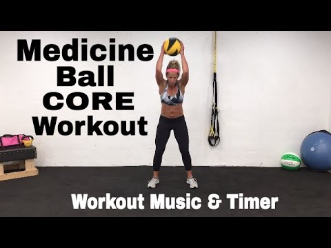 Medicine Ball Home Workout, Medicine Ball Ideas, Exercises, Ab Workout