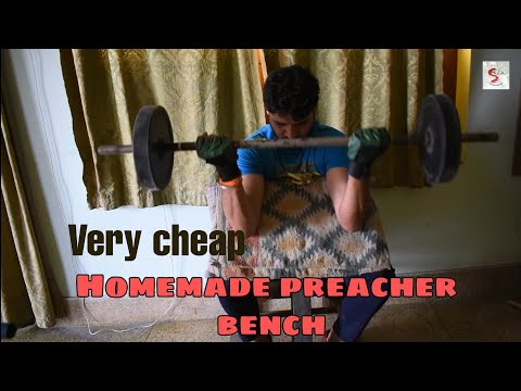 Cheap Homemade Preacher Bench For Arms Workout|DIY preacher curl|Gym equipment|Shashank Malik