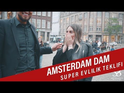 Yesim & Nazim Amsterdam de Dam Super Evlilik teklifi - Wedding Proposal